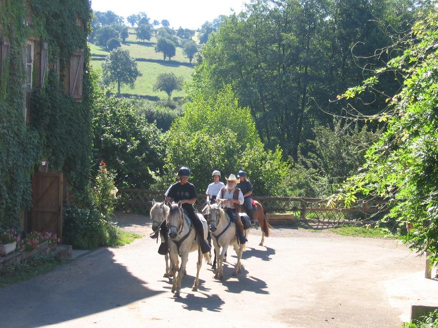 gite equestre Paray-le-Monial Saône-et-Loire Le Moulin de Vaux