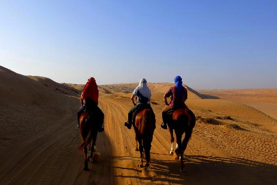 Photo voyage a cheval OMAN
