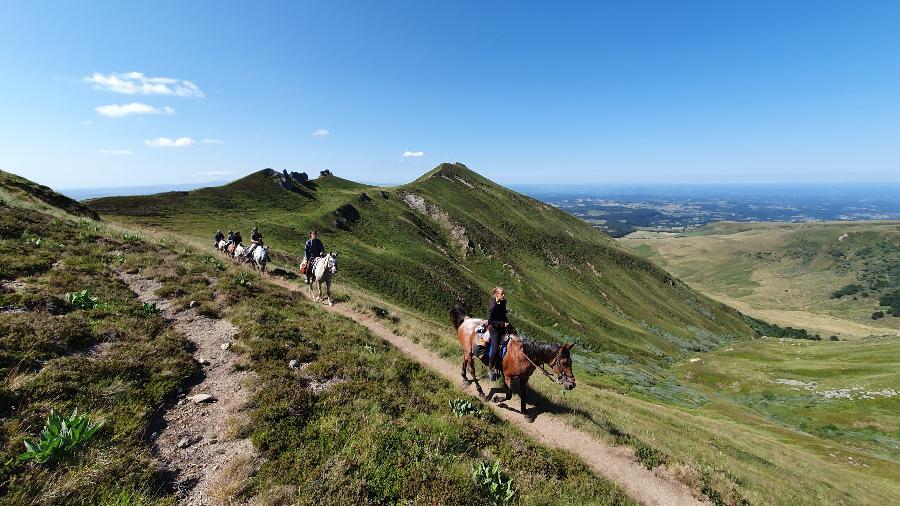 rando Randonnée équestre Cantal